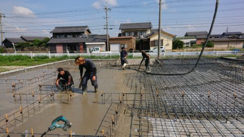 住宅基礎工事ベース生コン